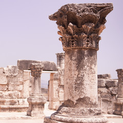 Ruins of the Synagogue at Capernaum, Israel