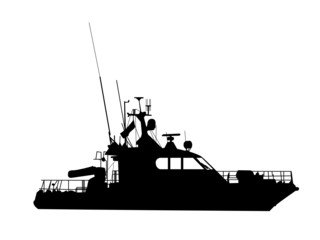 Silhouette of boat (yacht)