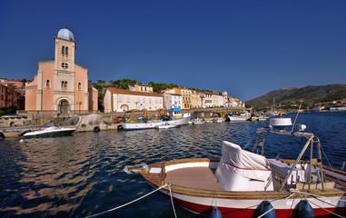 old fishing port on sea