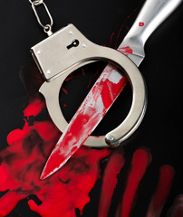Knife and handcuffs