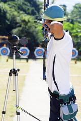 Archer en compétition
