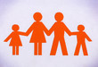 Drawn family orange isolated