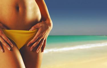 Summer girl on beach