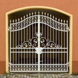 Openwork metal gate poster
