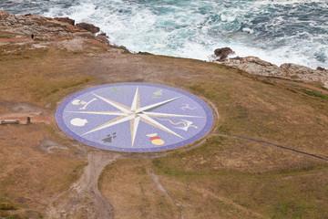 Rosa de los vientos en La Coruña, España