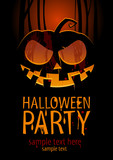 Halloween Party Design template, with pumpkin.