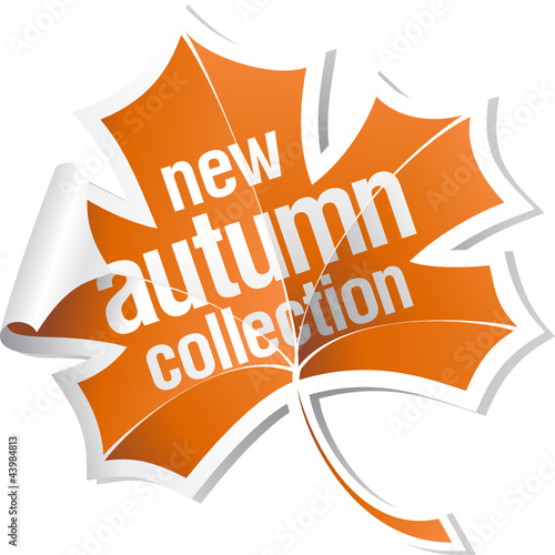 New autumn collection sticker