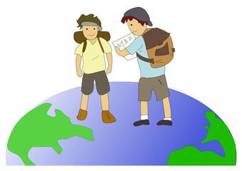 Backpack around the world