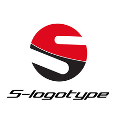 Logo spherical letter S, motorcycle rider # Vector