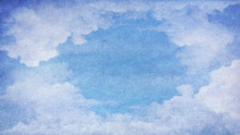 Fondo vintage, nubes