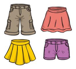 pant and skirt