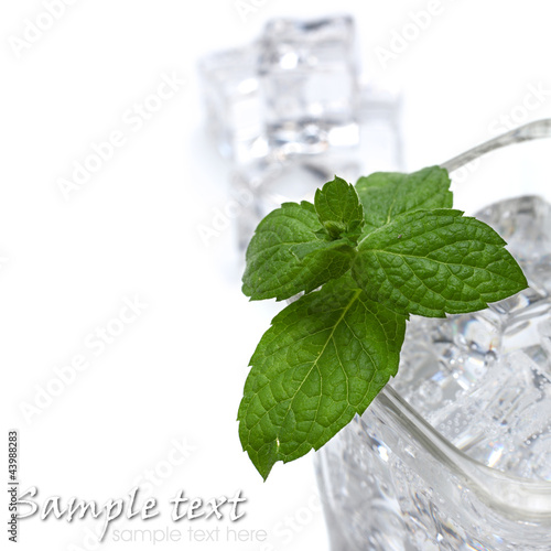 cold water on white background