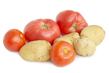potatoes bulbs and tomatoes fruits as solanaceous vegetable