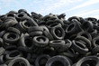 a pile of waste tires in Arthies in Ile de France