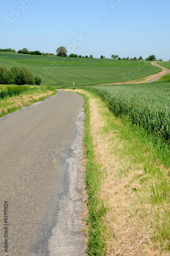 France, a country road in Morainvilliers