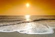 canvas print picture plage de méditerranée  et écume