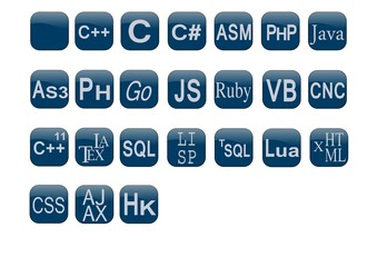 Programming language badges