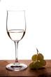 Riesling Weisswein im Weinglas