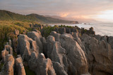 Pancake Rocks at dusk in Punakaiki, New Zealand