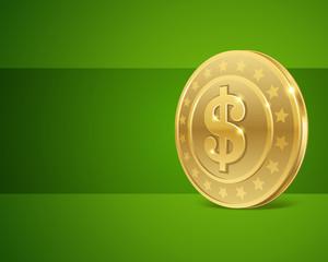 Dollars money coin vector background