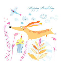 greeting card with a dog