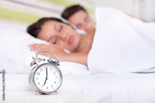 Quiet couple sleeping