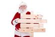 Santa with signboard