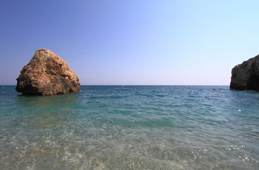 Beautiful beach in Greece at summer