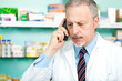 Pharmacist talking on the phone