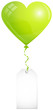 Green Heart Balloon & Label