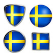 sweden flag icon set