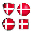 denmark flag icon set