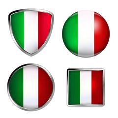 italy flag icon set