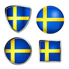 sweden flag icon set