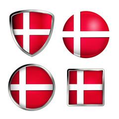 denmark flag icon set