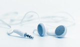 concept of digital music white Headphones