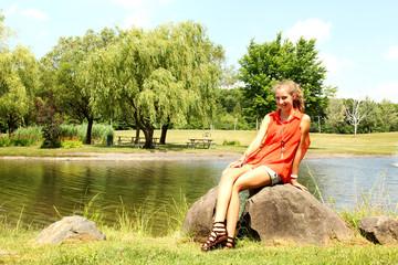 Teen in a park