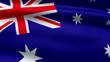 Australian flag, 3d animation. seamless loop
