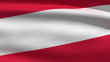 Austrian flag, 3d animation. perfect seamless loop