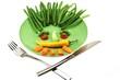 lustiger  vegetarischer  Teller