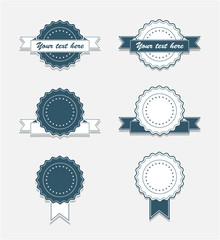 Simple Vintage Badges with Ribbon
