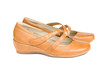 woman leather nude  shoes
