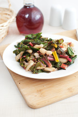 Chard and cannellini beans salad