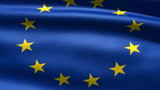 Eurounion flag, 3d animation. perfect seamless loop