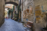 Umbria old village street view color image