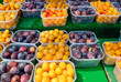 Organic plums at Farmers Market