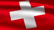 Swiss flag, 3d animation. perfect seamless loop