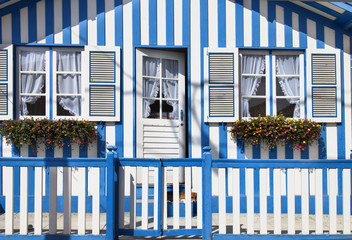 Casa tipica de Aveiro (Portugal)