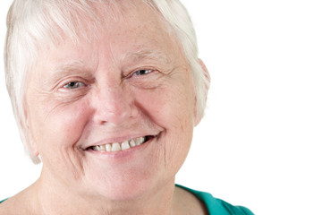 Senior woman portrait smiling