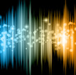 Abstract futuristic background with striped lights